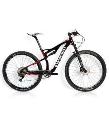 Stradalli 29er Black/Red Carbon Dual Suspension Cross Country XC Mountain Bike Shimano XT DT-Swiss Wheel Set