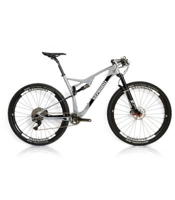 Stradalli 29er Gray XC Carbon Dual Suspension Mountain Bike Shimano XTR DT-Swiss Carbon Race Machine
