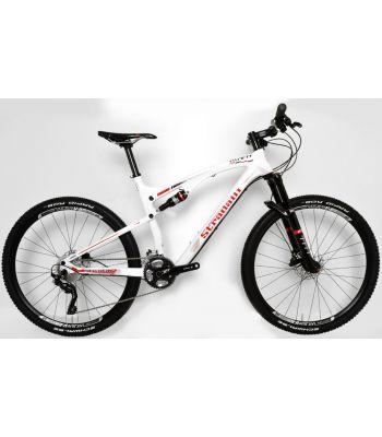 Stradalli Two 7 Pro White Edition. Full Carbon Fiber Dual Suspension Mountain Bike. 27.5