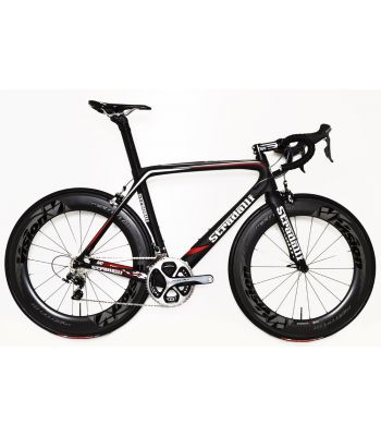 Stradalli AR7 Black Team Full Carbon Aero Road Bicycle Shimano Dura Ace 9100 11 Speed. Vision Metron 81 Carbon Clincher Wheelset.