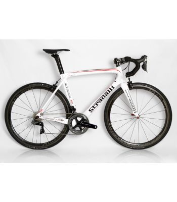 Stradalli AR7 White Team Full Carbon Aero Road Bicycle Shimano Dura-Ace 9150 11 Speed. Vision 40mm Clincher Wheel Set.