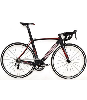 Stradalli Aversa Full Carbon Aero Road Bicycle Shimano Ultegra 8000 11 Speed Vision Black T25 Wheelset.