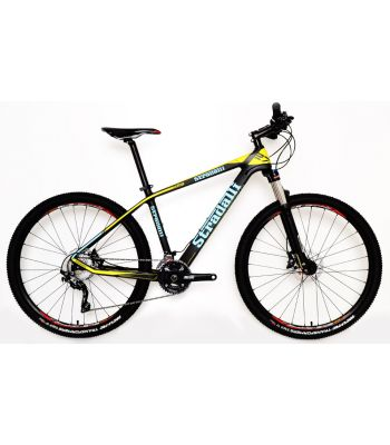 Stradalli Blue/Yellow Full Carbon Fiber Hardtail Mountain Bike. 27.5