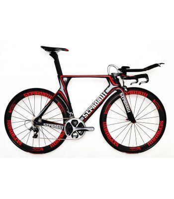 Stradalli Full Carbon Gray TT Time Trial Triathlon Bike. Shimano Dura Ace 9000 11 Speed. Stradalli 50mm Vento Carbon Clincher Wheelset.
