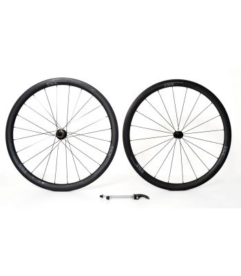 Stradalli Full Carbon 27mm Wide Deep Dish 40/40 Road Clincher Wheel Set