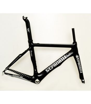 Stradalli Faenza Full Carbon Fiber Aero Road Bicycle Frameset Black Silver