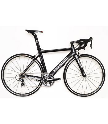Stradalli Faenza Black Full Carbon Aero Road Bike. Shimano Ultegra 8000 11 Speed. Vision T25 Wheelset