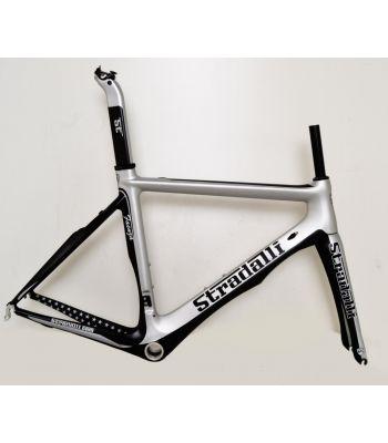 Stradalli Faenza Full Carbon Fiber Aero Frameset Silver/Black