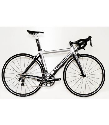 Stradalli Faenza Silver / Black Full Carbon Aero Road Bike. Shimano Ultegra 8000 11 Speed. Vision T25 Black Wheelset.