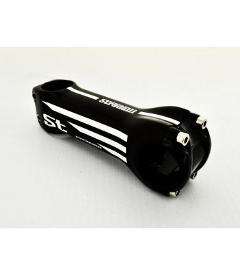 Stradalli Full Carbon Fiber Bicycle Cycling Bike Handlebar Bar Stem Carbon Faceplate White Graphic
