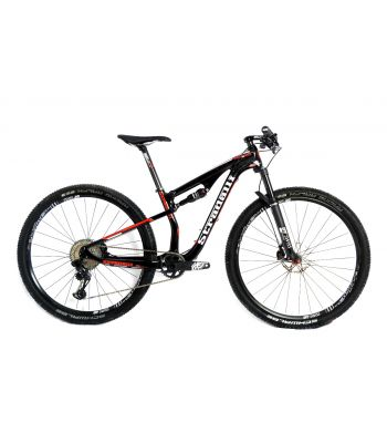 Stradalli Red Edition Full Carbon Fiber Dual Suspension Mountain Bike 29er MTB SRAM Eagle 12 Speed DT Swiss Fork and Wheel Set