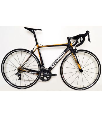 Stradalli RS Orange Full Carbon Road Bike. Shimano Ultegra 8000 11 Speed. Shimano RS Aluminum Clincher Wheelset.