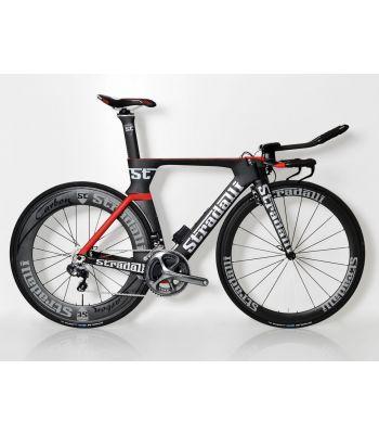 Stradalli Phantom II Full Carbon Time Trial Bike. Shimano Ultegra Di2 8050 11 Speed. Stradalli 50-85mm Carbon Aero Clincher Wheelset.