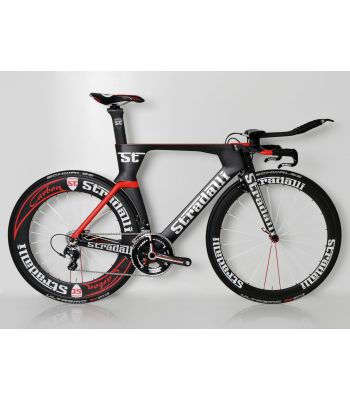 Stradalli Phantom II Full Carbon Time Trial Bike. Shimano Ultegra 8000 11 Speed. Stradalli 50-85mm Aero Carbon Clincher Wheelset
