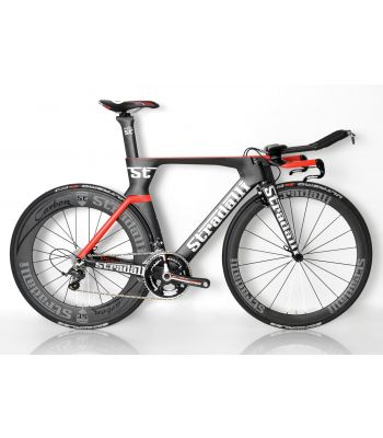 Stradalli Phantom II Full Carbon Time Trial Bike. Shimano Ultegra 8000 11 speed. Stradalli 50-85mm Aero Carbon Clincher Wheelset.