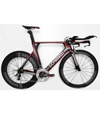 Stradalli Full Carbon Gray TT Time Trial Triathlon Bike. Shimano Ultegra 8000 11 Speed. Stradalli 50-85mm Carbon Wheels