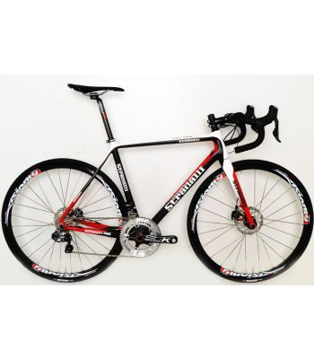 Stradalli Hydraulic Disc Brake Carbon Fiber Road Bike Shimano Ultegra Di2 Vision Team 30 Alloy Wheelset