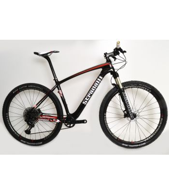 Stradalli M29 Full Carbon Fiber Mountain Bike 29er MTB. SRAM Black Eagle XX1 12 Speed. Manitou Marvel Comp Fork. Magura MT-2 Brake Set. Stradalli Full Carbon Clincher Wheel Set.