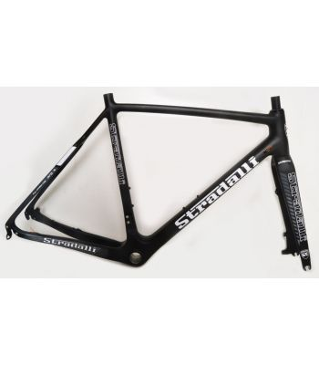 Stradalli Cyclocross Full Carbon Disc Cycle Cross T-700 Pro Gravel Bicycle Frame Set. Grey/Black