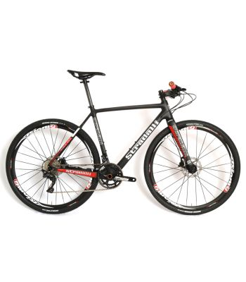 Stradalli T-700 Full Carbon City Fitness Street Hybrid lightweight Disc Bicycle. Shimano XT 11 Speed. Vision 30 CX Wheel Set. Magura MT2 Hydraulic Brakes.