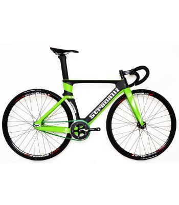 Stradalli SL-16 Full Carbon Green Track Bike Fixie Complete Bicycle. Ultimate Power Wheelset.
