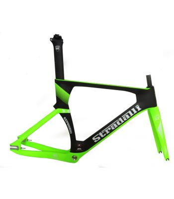 Stradalli SL-16 Pro Full Carbon Electric Neon Green Track Bike Fixie Frameset