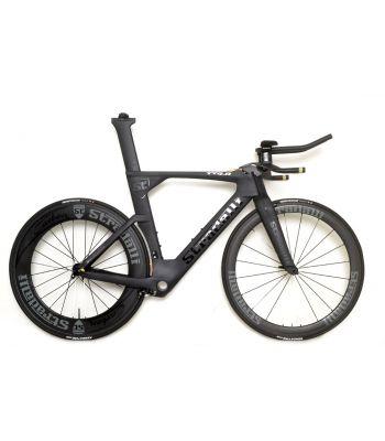 Stradalli TTR-8 Black TT Full Carbon Time Trial Triathlon Bicycle Frame. Stradalli 50/85mm Carbon Aero Clincher Wheelset.