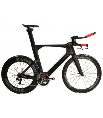 Stradalli Black TT Full Carbon Time Trial Triathlon TTR-8 Bike. Shimano Ultegra 6870 Di2 11 Speed. Stradalli 50-85mm Carbon Wheels