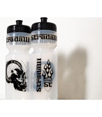 2 25oz Stradalli Cycle Skull Water Bottles Clear Racing Bicycle Cycling Bike Road MTB TT Triathlon Cyclocross