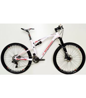 Stradalli Two 7 Pro White Edition Full Carbon Fiber Dual Suspension Mountain Bike. 27.5