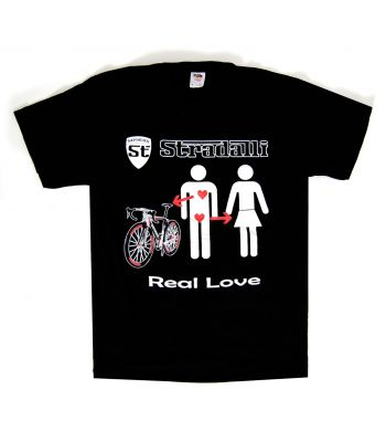 Stradalli Logo Shield and Real Love T-Shirt.